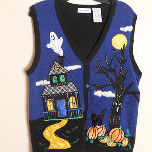 White Stag Vest Sz M Halloween Ugly Sweater Vest